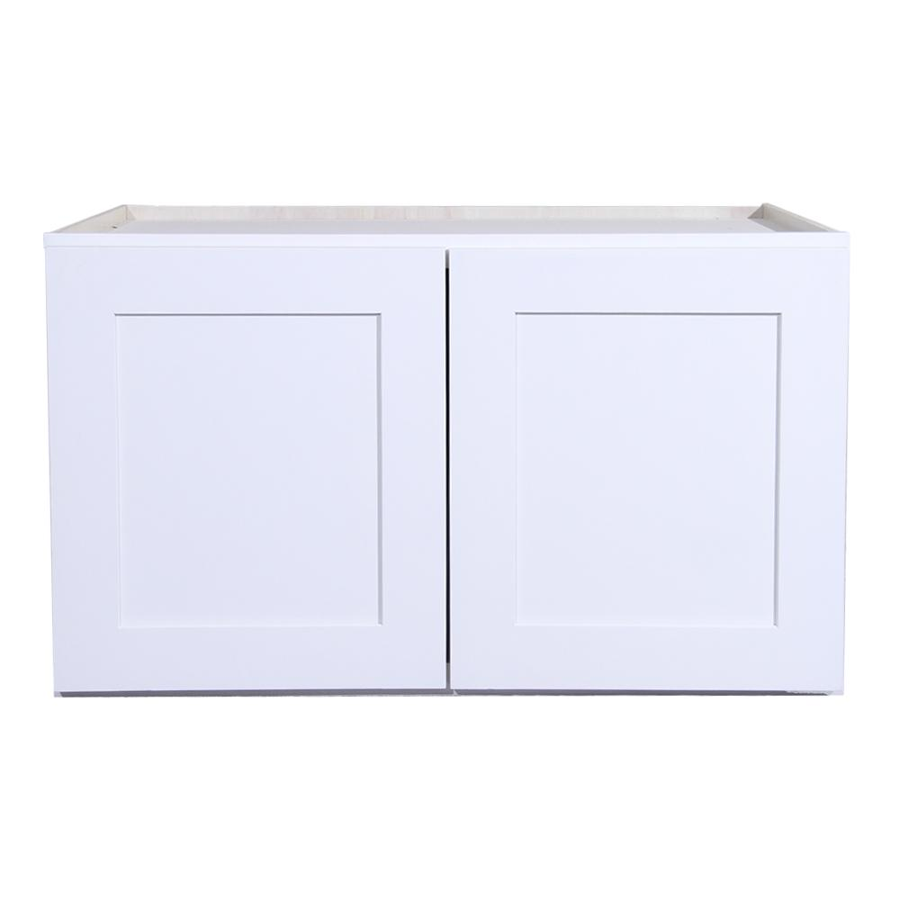 Shaker ready to assemble 36x24x24 in refrigerator wall cabinet in white finish