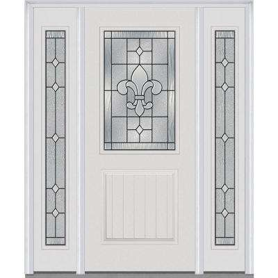 60 in. x 80 in. Carrollton Right-Hand 1/2-Lite  sc 1 st  Home Depot & Yes - Doors With Glass - Fiberglass Doors - The Home Depot