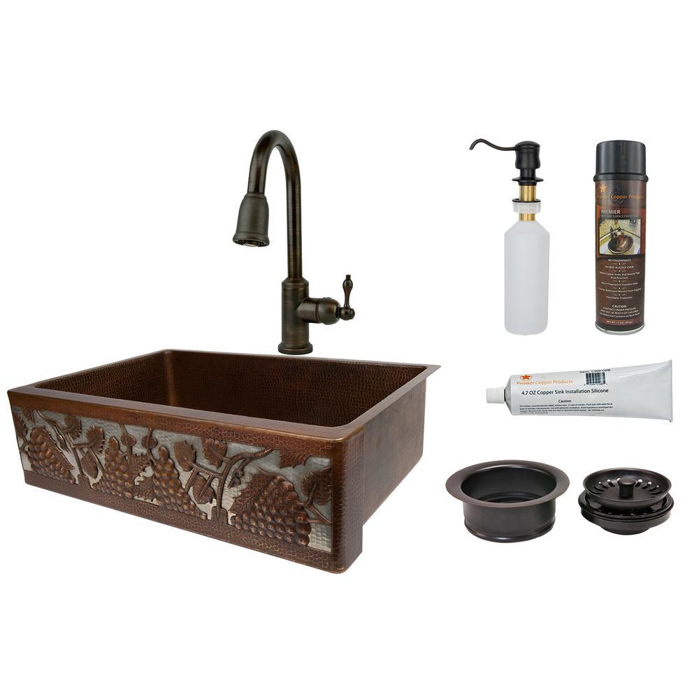 Dual Mount Copper Kitchen Sink