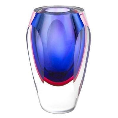 9 in. Essence Murano Style Art Glass Violet Vase