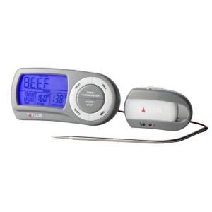 Taylor Multi-use Gray Digital Wireless Food Thermometer with Programmable Features by Taylor