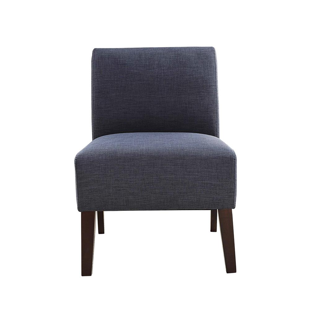 acme furniture ollano iii blue linen accent chair 59745 the home