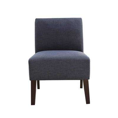 Ollano III Blue Linen Accent Chair