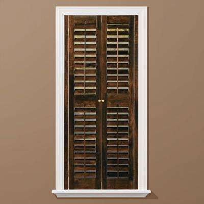 Walnut 2-1/4 in. Plantation Real Wood Interior Shutter 31 to 33 in. W x 48 in. L