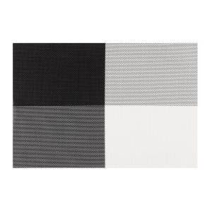 Internet 303712886 Kraftware Everytable 4 Corners Black And White Placemats