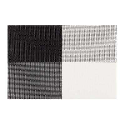 EveryTable 4-Corners Black and White Placemats (Set of 12)
