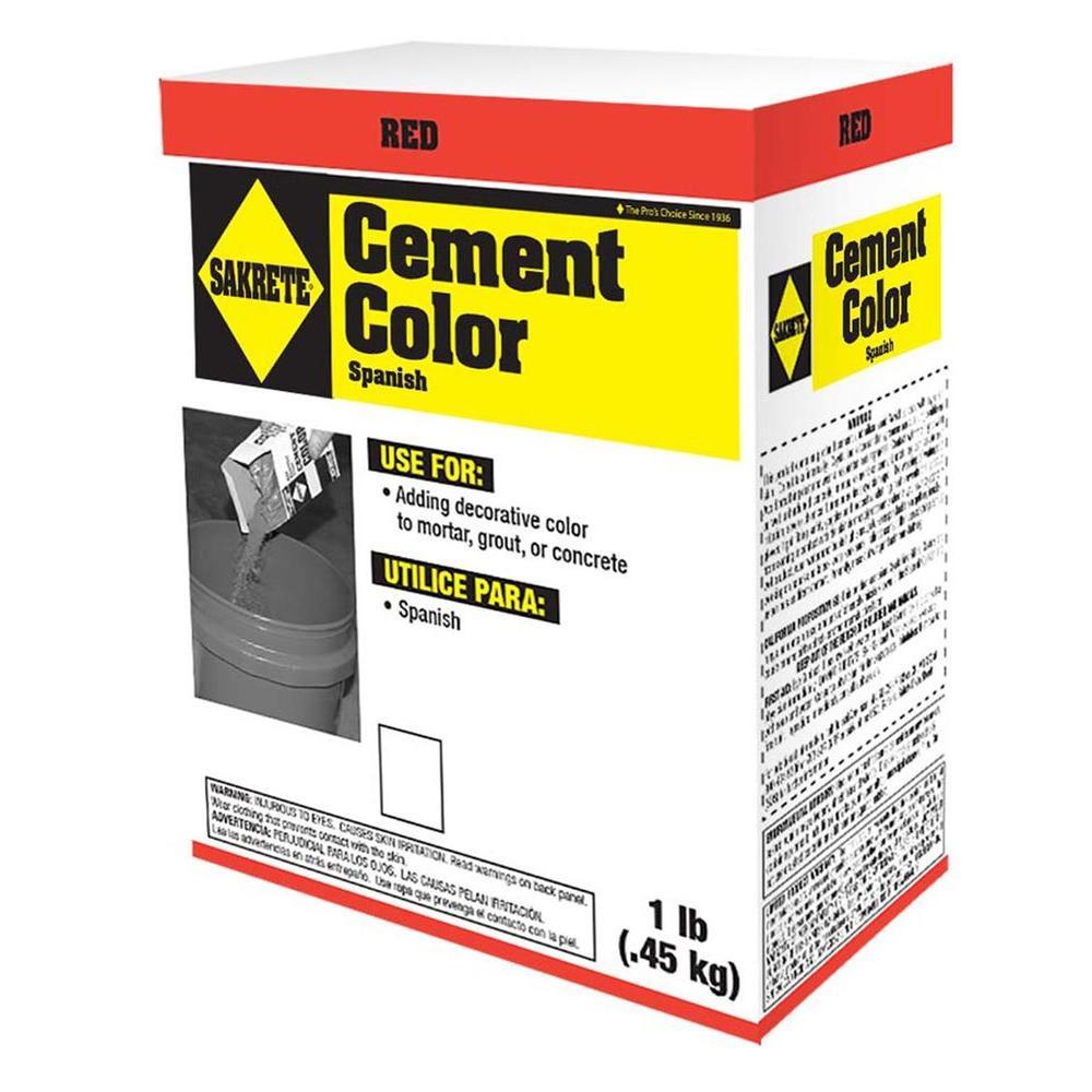 SAKRETE 1 lb. Cement Color Red-65075003 - The Home Depot