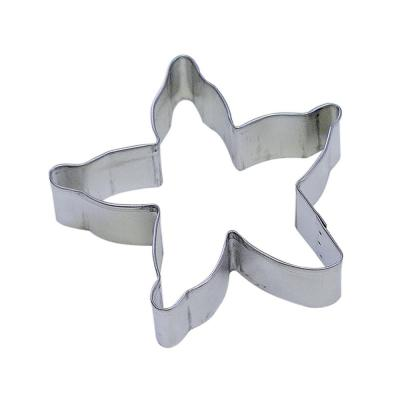 12-Piece 4 in. Starfish Tinplated Steel Cookie Cutter & Recipe