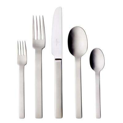 One 60-Piece 18/10 Stainless Steel Flatware Set
