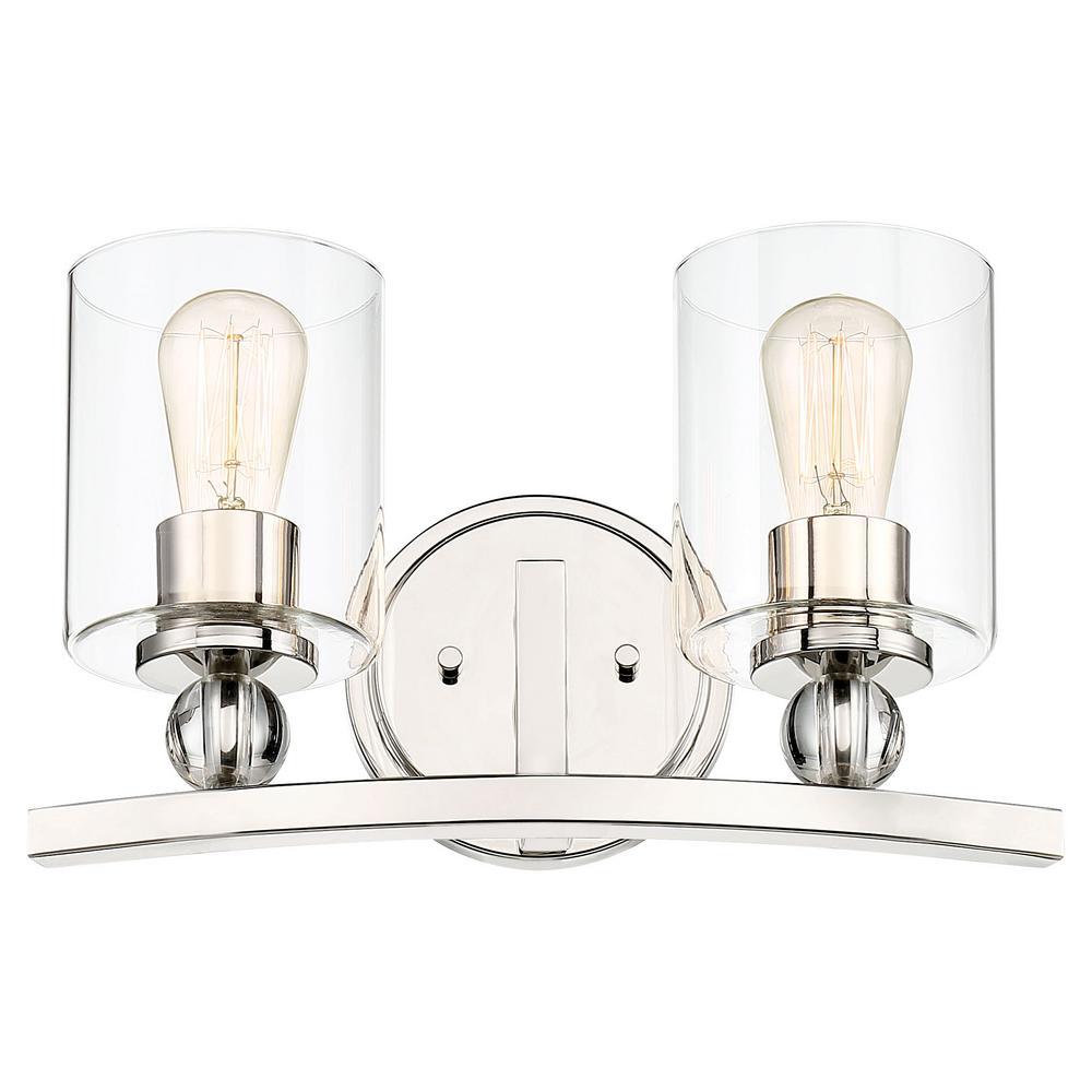 Studio 5 2-Light Polished Nickel Vanity Light