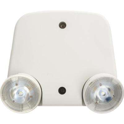 Contractor Select Thermoplastic White Emergency Remote Twin Head
