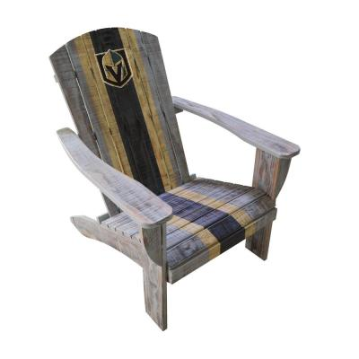Gold Knights Wood Adirondack Chair