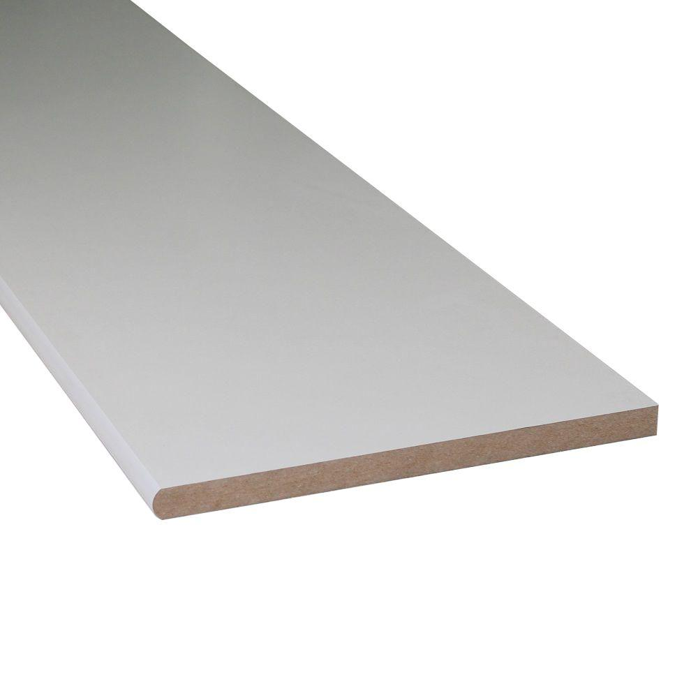 null 3/4 in. x 11-1/4 in. x 8 ft. Primed Shelving MDF Board