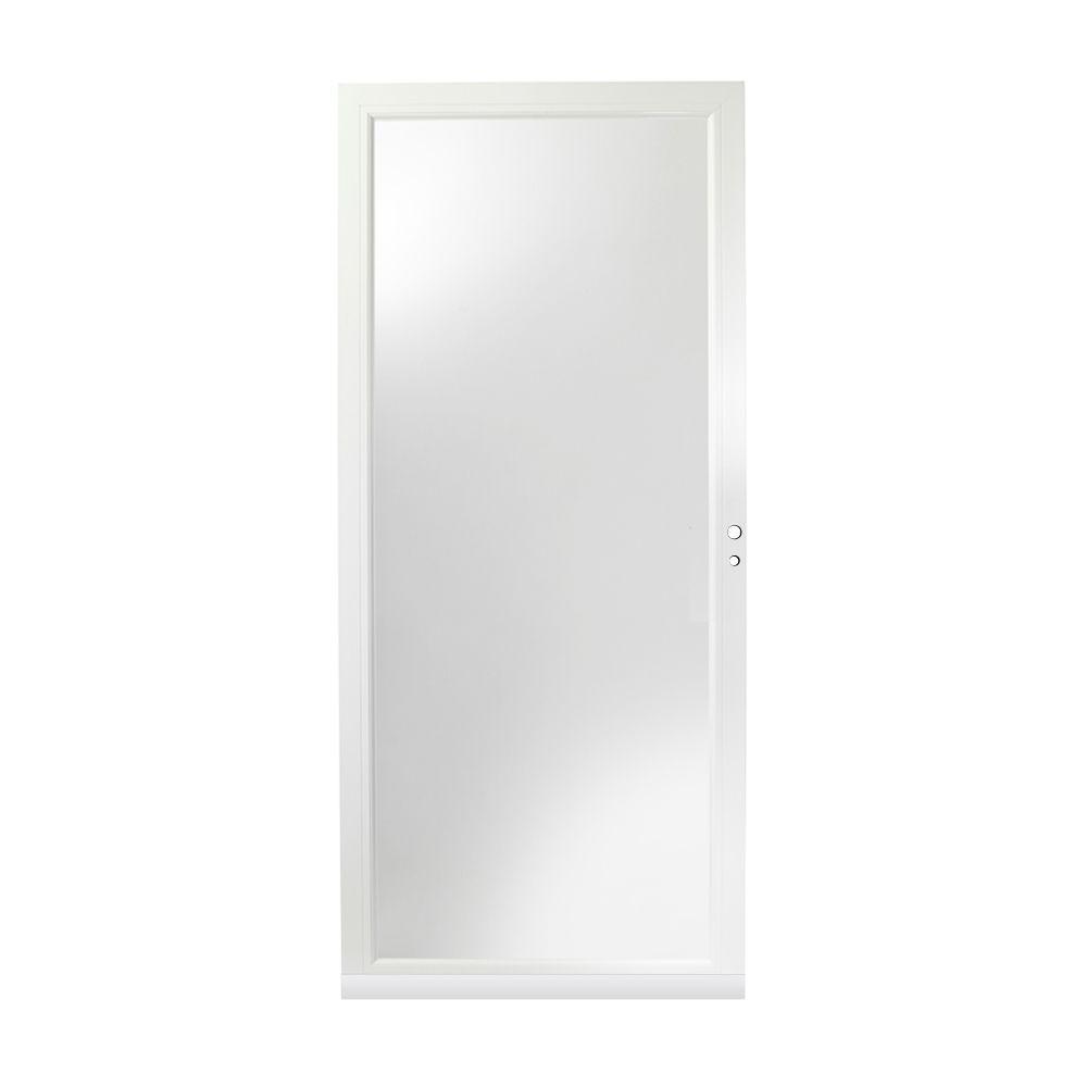 36 in. x 80 in. 4000 Series White Right-Hand Fullview Aluminum Storm Door