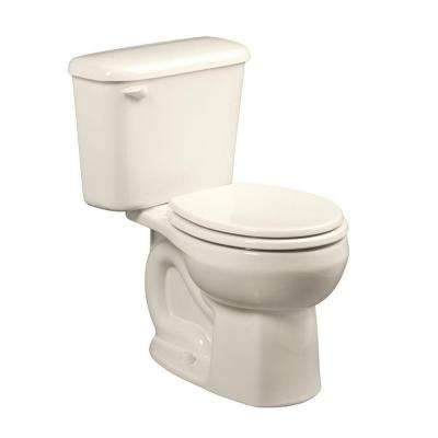 Colony 10 in. Rough-In 2-piece 1.6 GPF Single Flush Round Toilet in Linen