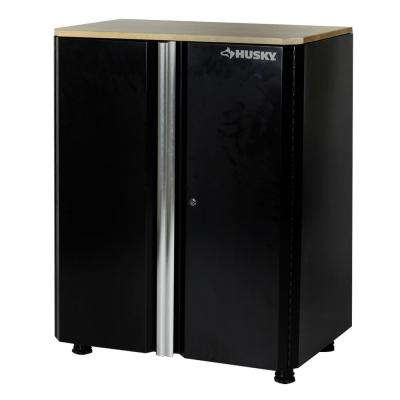 36 in. H x 30 in. W x 19.25 in. D Deluxe Steel Garage Base Cabinet in Black (1 Piece)