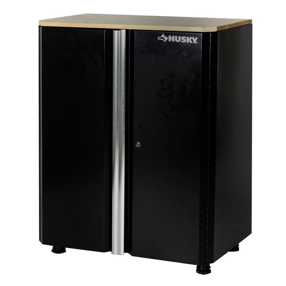 36 in. H x 30 in. W x 19.25 in. D Deluxe Steel Garage Base Cabinet in Black (1 Piece)