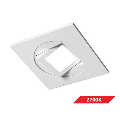DQR4MA Series 4 in. Square 2700K White Integrated LED Recessed Gimbal/Eyeball Trim