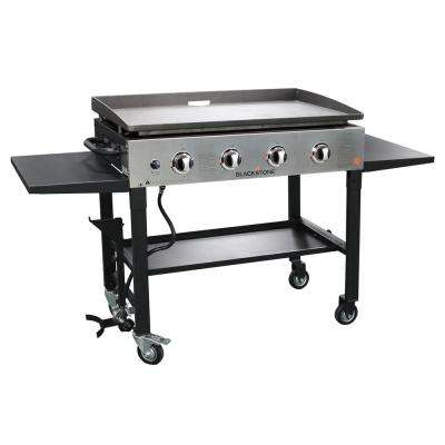 4-Burner Propane Gas Griddle with Stainless Steel Front Panel