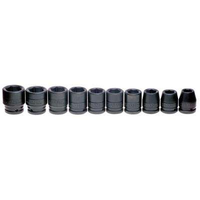 3/4 in. Drive 6-Point Impact Socket Set (10-Piece)