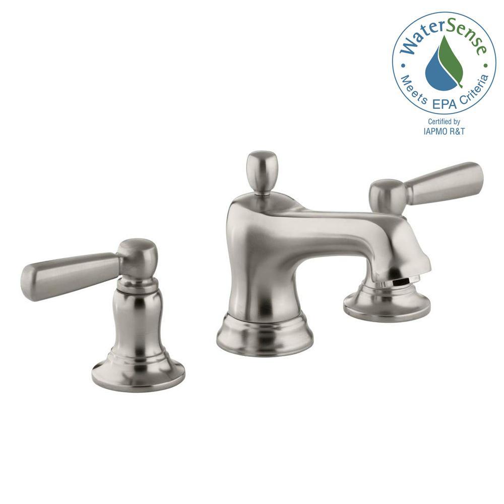 KOHLER Bancroft 8 in. Widespread 2-Handle Low-Arc Bathroom Faucet ...