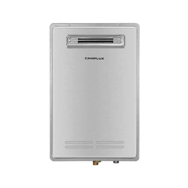 Camplux 20L 5.28 GPM Residential Natural Gas Tankless Water Heater, Grey