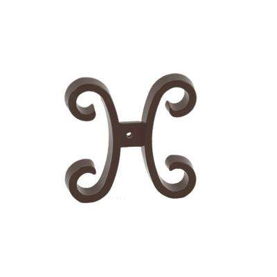 Bronze Aluminum Fence Butterfly Scroll