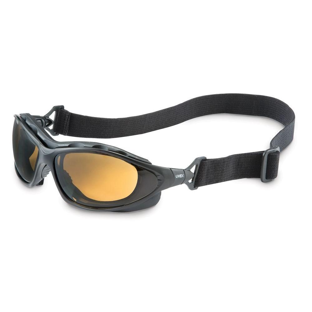 Seismic Sealed Eyewear Safety Glasses with Expresso Tint AF Lens and Black Frame
