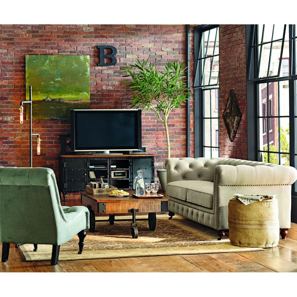 Home Collection Catalog: Home Decorators Collection Gordon Natural Linen Sofa