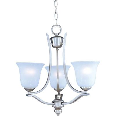Madera 3-Light Satin Silver Mini Chandelier
