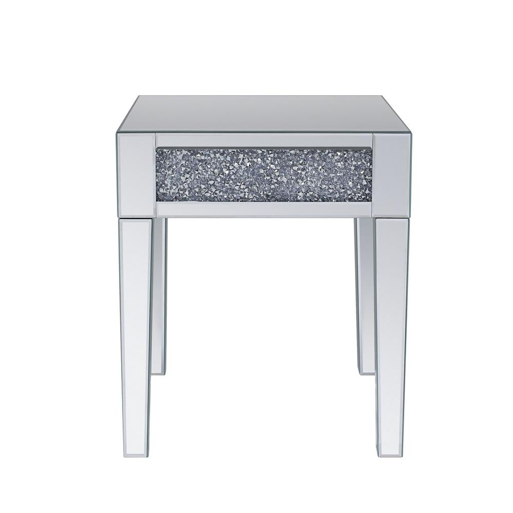 Acme Furniture Noralie Mirrored And Faux Diamonds End