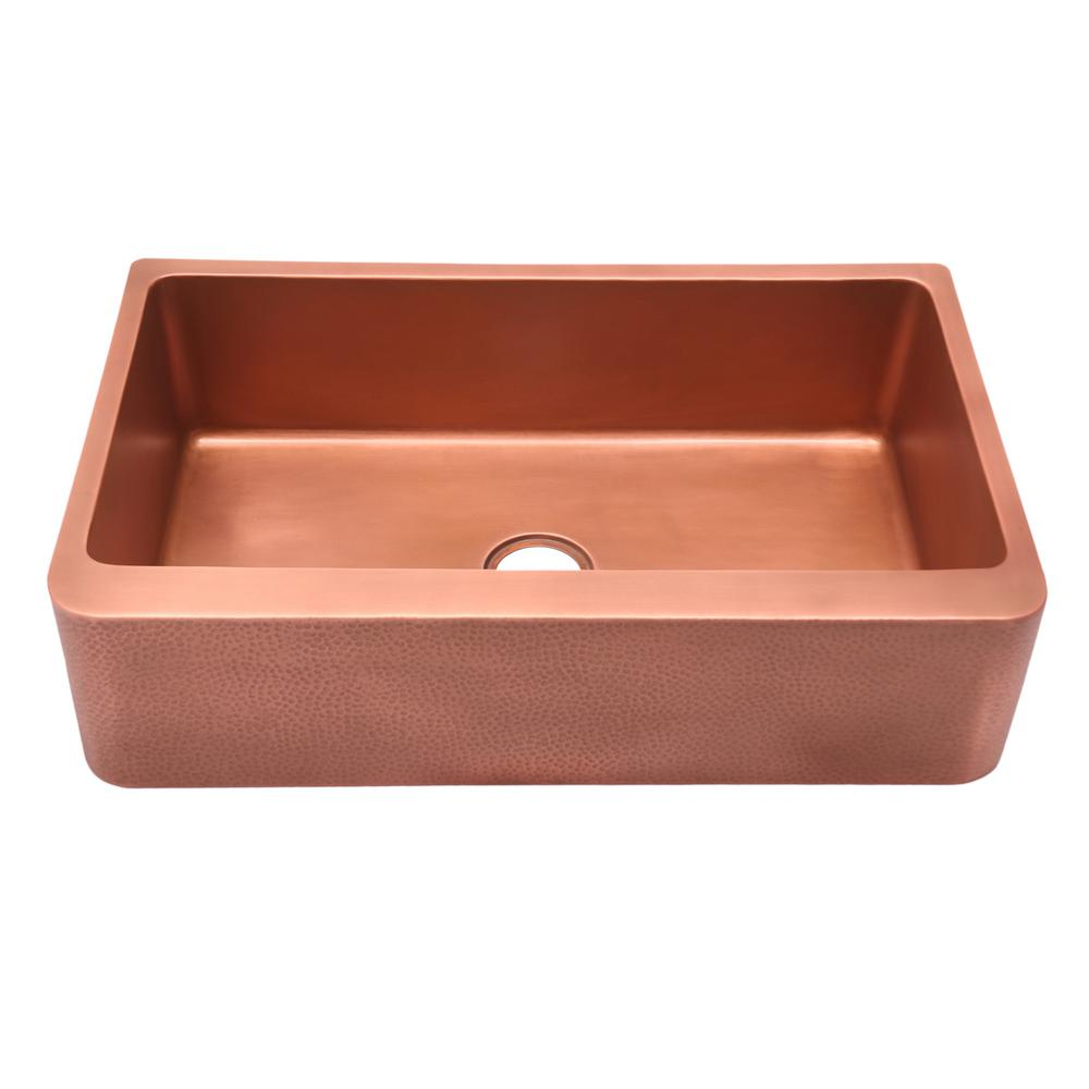Barclay Products Barroca Farmhouse Apron Front Copper 25 in. Single Bowl  Kitchen Sink