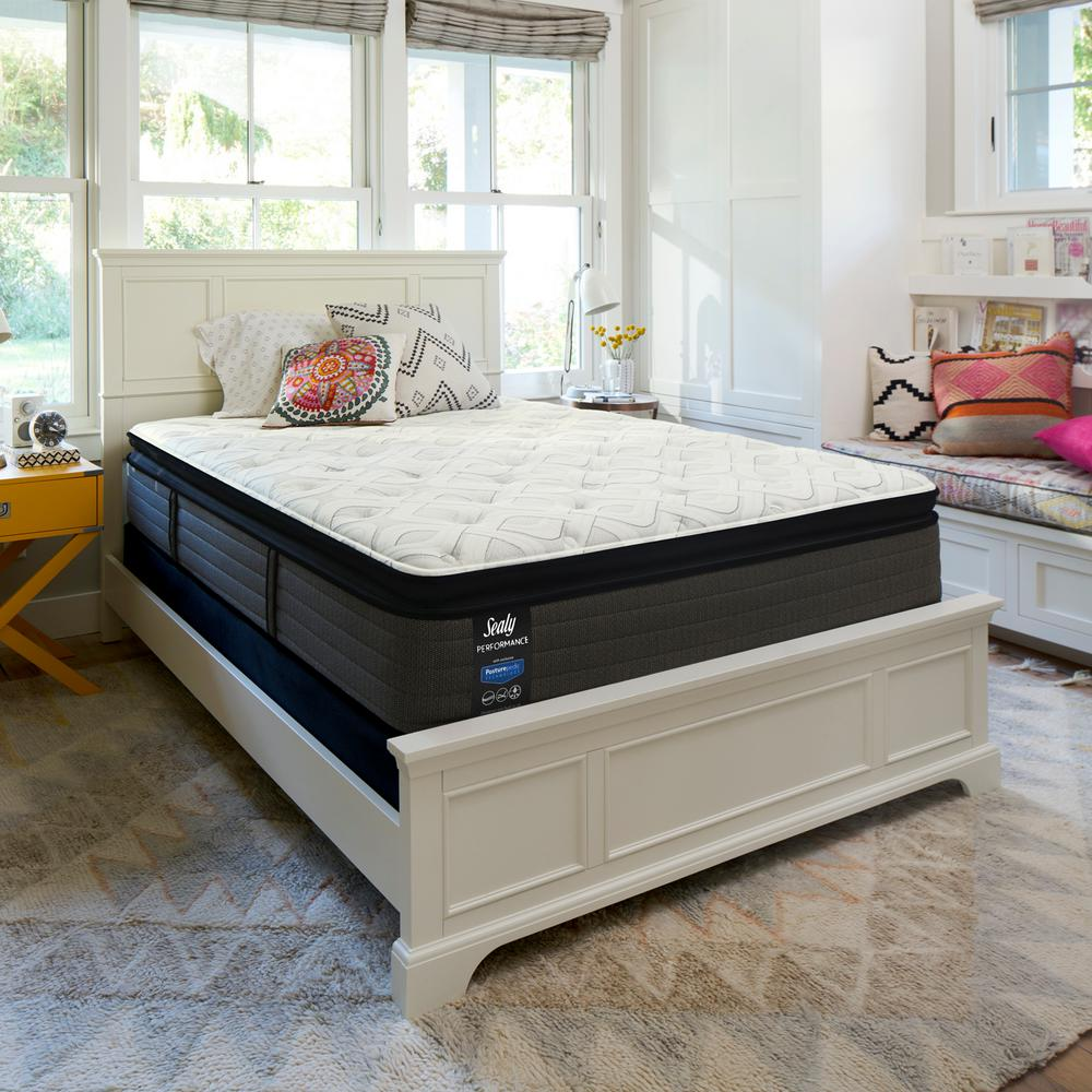 Sealy Response Performance 14 In Queen Cushion Firm Euro Pillowtop Mattress Set With 9 High Profile Foundation