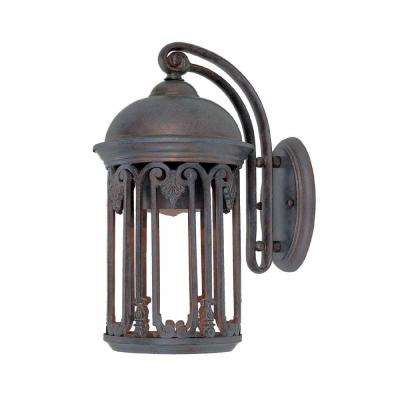 Dark Sky 7 in. Old Bronze Outdoor Wall Sconce