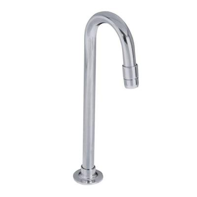 Single-Handle Bar Faucet with Gooseneck Spout in Polished Chrome