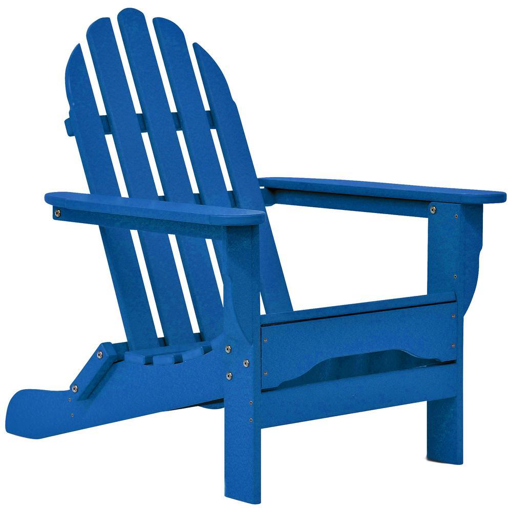 Icon Royal Blue Non-Folding Plastic Adirondack Chair