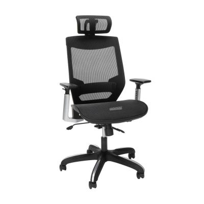 Core Collection Full Mesh Office Chair with Headrest, Lumbar Support, in Black (525-BLK)