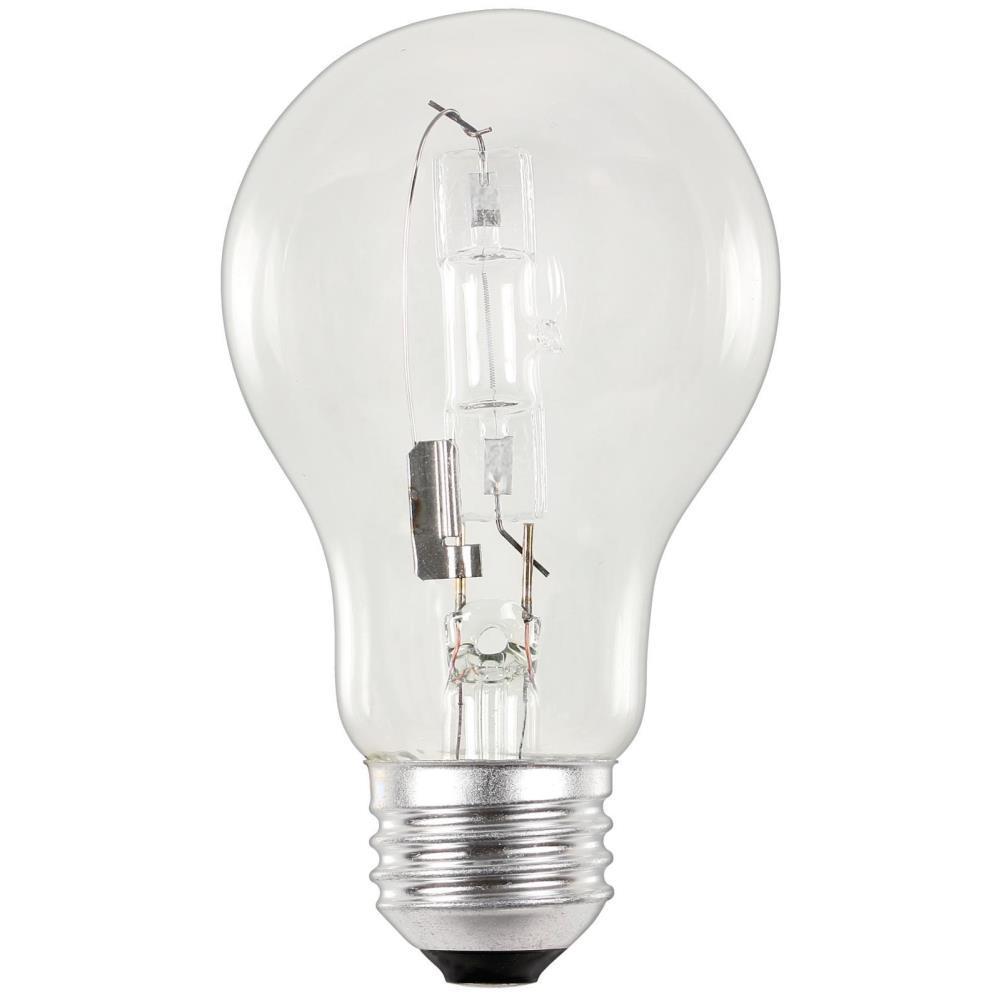 53-Watt Eco-Halogen A19 Clear Medium Base Light Bulb (2-Pack)
