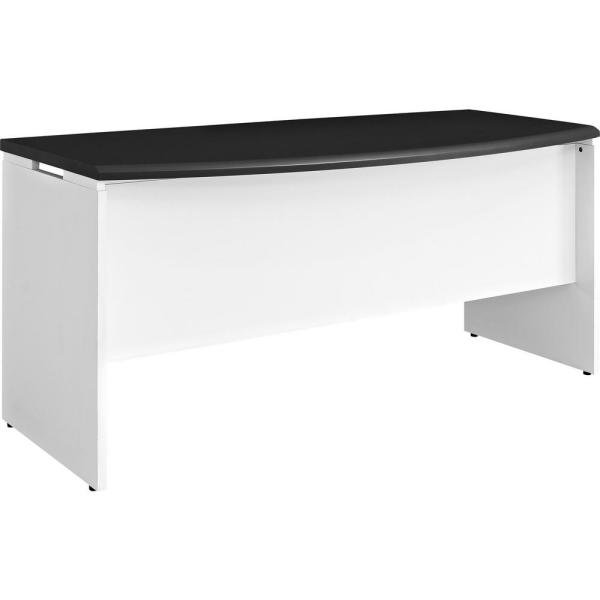 Ameriwood Home Mansfield White and Gray Computer Desk with Storage HD15494