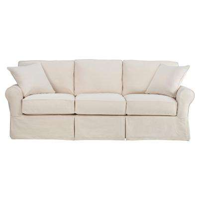 Mayfair 95 in. Classic Natural Twill Fabric Long Sofa