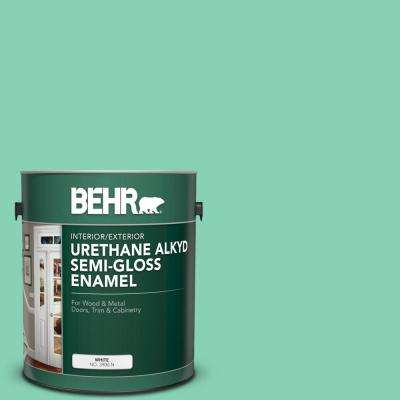 1 gal. #P420-3 Tropical Trail Urethane Alkyd Semi-Gloss Enamel Interior/Exterior Paint