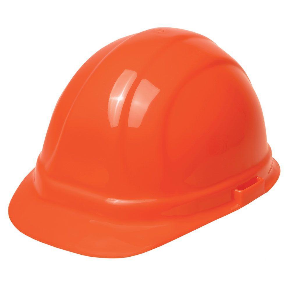 ERB Omega II 6 Point Nylon Suspension Slide-Lock Cap Hard Hat in Hi Viz Orange