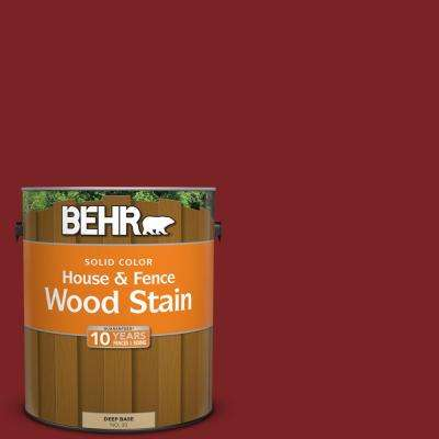 1 gal. #SC-112 Barn Red Solid Color House and Fence Exterior Wood Stain