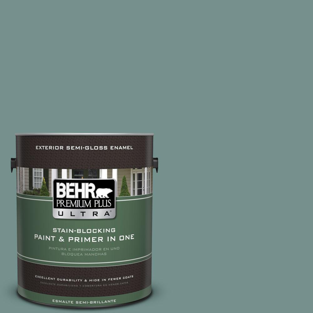 BEHR Premium Plus Ultra 1-gal. #PPU12-3 Dragonfly Semi-Gloss Enamel Exterior Paint