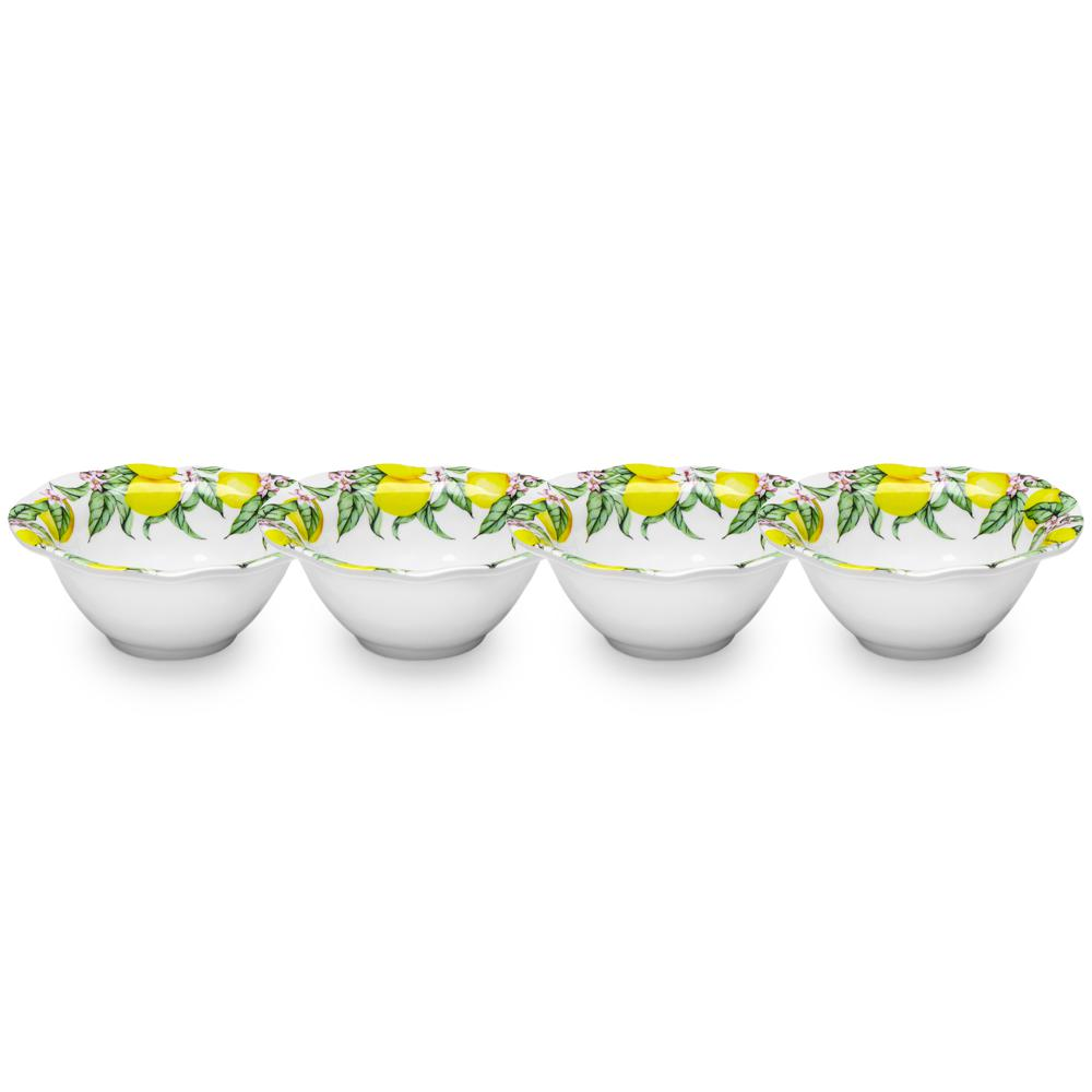 Limonata 4-Piece Yellow Melamine Dip Bowl Set