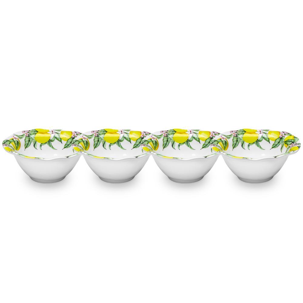 Limonata 4-Piece Yellow Melamine Dip Bowl Set