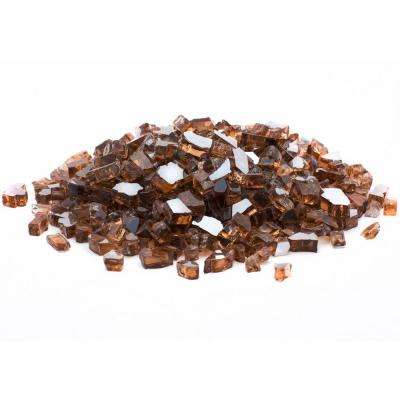 1/4 in. 25 lb. Copper Reflective Tempered Fire Glass