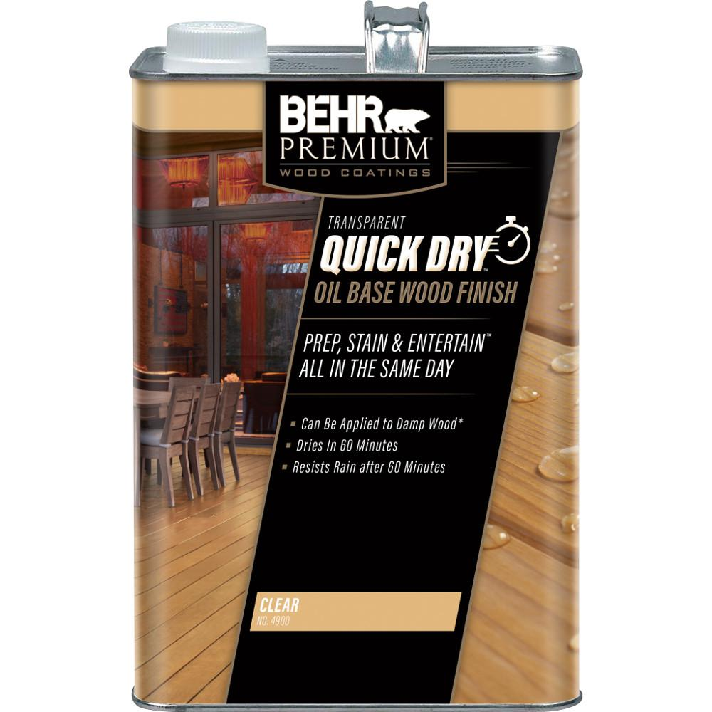 Behr premium 1 gal transparent quick dry oil base wood - Behr exterior wood stain reviews ...
