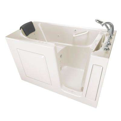 Gelcoat Premium Series 60 in. Right Hand Walk-In Whirlpool and Air Bathtub in Linen