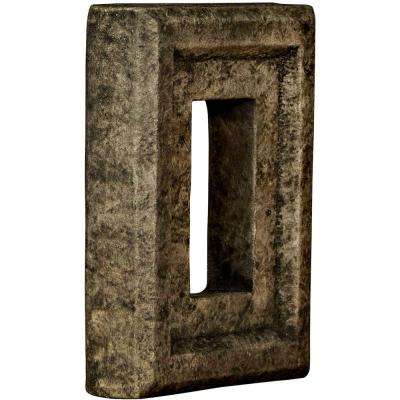 2 in. x 6-1/4 in. x 8-1/4 in. Grey Urethane Universal Electrical Outlet for Stone and Rock Wall Panels